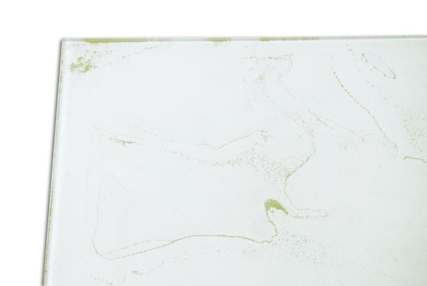 plateau en verre or