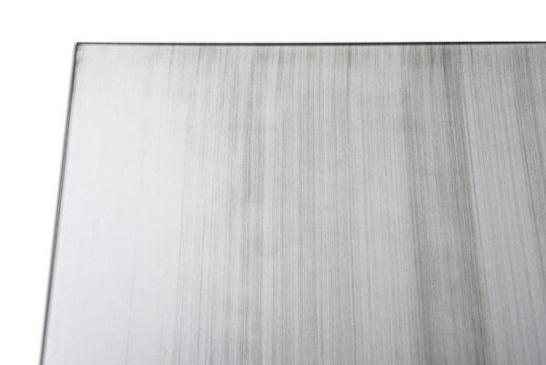 plateau en verre gris