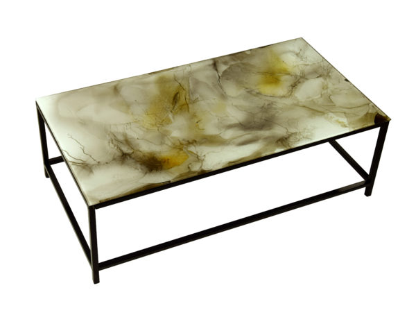 table rectangle en verre