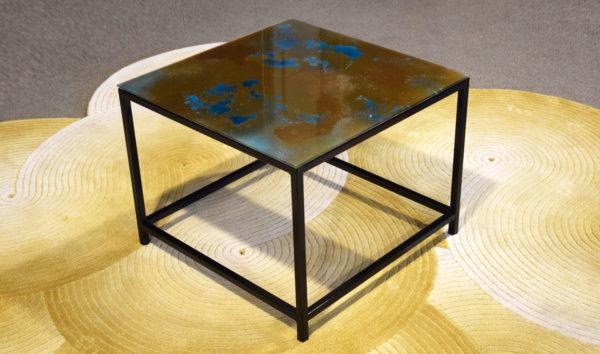 table carré verre