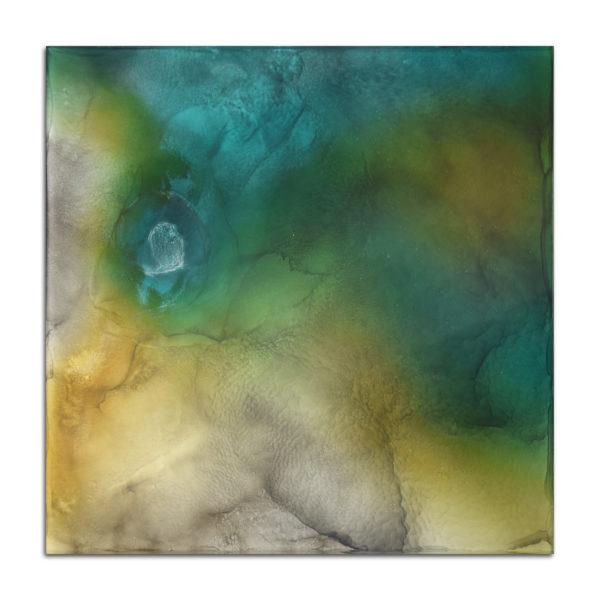 table carré bleu