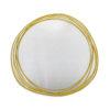 Miroir forme en verre sablé et doré, face, Prestige